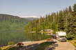 RV park by the lake in Alaska