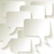 Speech Bubbles in blanco Soziales Netzwerk Hintergrund
