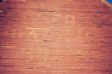 grain elevator wood wall - Drumheller Alberta - LOMO