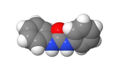 Plant hormone - Cytokinins - Diphenylurea - spacefill model