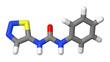 Plant hormone - Cytokinins - Thidiazuron - TDZ - sticks model