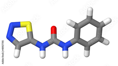 Plant hormone - Cytokinins - Thidiazuron - TDZ - sticks model