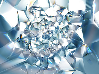 clear ice blue crystal background