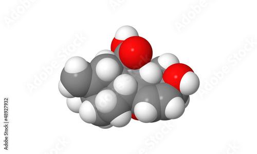 Plant hormone - Gibberellin - A3 - spacefill molecular model