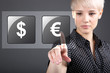 Commodity trading - currency trading dollar euro concept