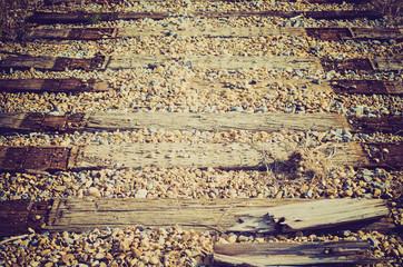 old railway ties  - Drumheller Alberta - LOMO