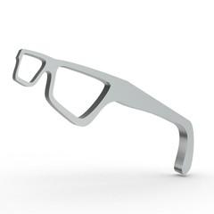 3D Icon Brille Silber