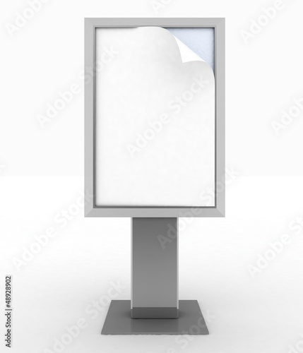 empty advertising billboard. 3D render illustration