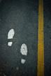 symbol foot walk lane on road
