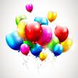 Flying realistic balloons