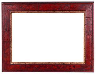 Old Dark Red Wooden Frame