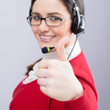 Positive support operator smiling