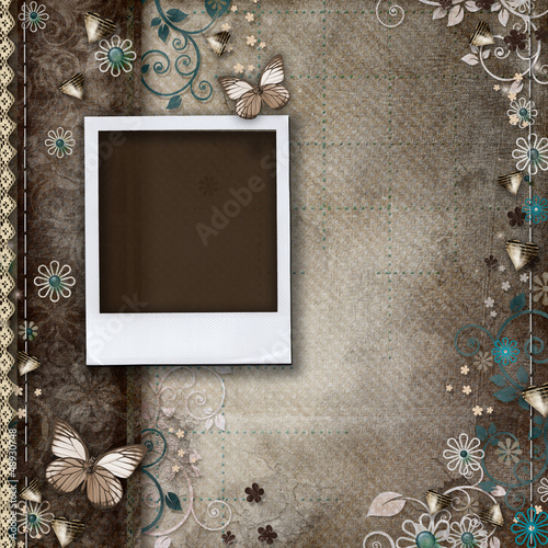 Vintage background for invitation or congratulation with frames