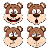 Illustration of Cartoon Bear face