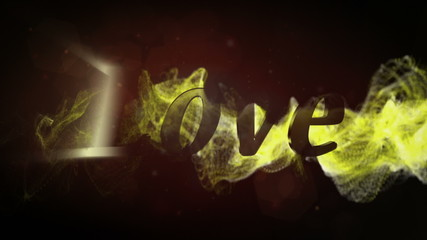 Love, Text in Particle Red - HD1080