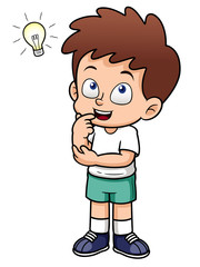 illustration of Boy with a good idea