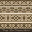 Vintage border seamless elements collection. Floral ornament