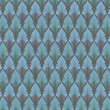 Vintage seamless pattern.  Blue wallpaper abstract background