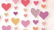 montage of dangling pink hearts