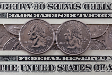 US quarter dollar coins