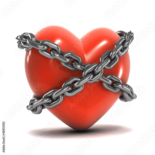 Chained red heart