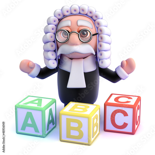 Judge teaches the alphabet