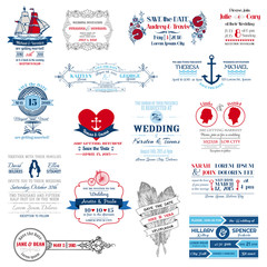 Wedding Invitation Collection - for design, scrapbook -in vector