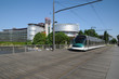 France, tramway in European Parliamant distric of Strasbourg