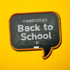 Back to school, vector Eps10 illustration.