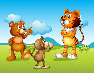 A tiger, a monkey and a rat