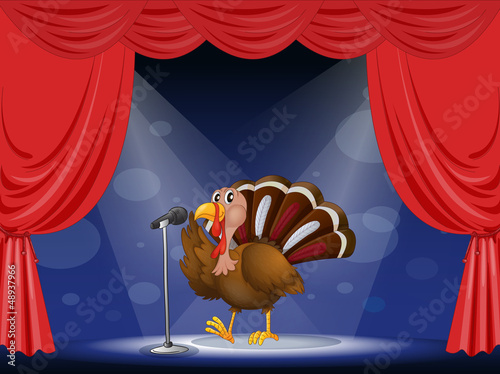 A turkey in the limelight