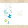 Hanging Baby Symbols Boy Dots Border