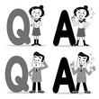 Q&A 質問と回答 モノクロ