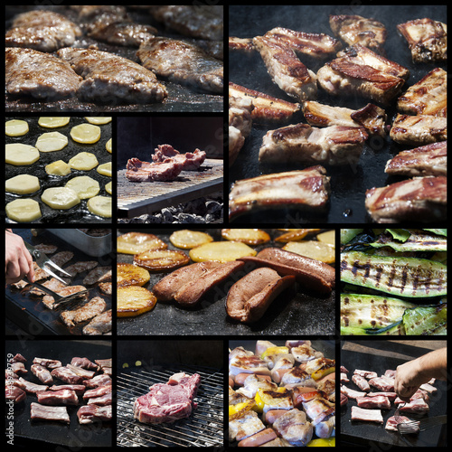 Barbecue collage