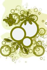 cercles verts et papilon