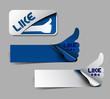 Design of like labels stamps stickers use.