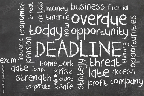 deadline word cloud