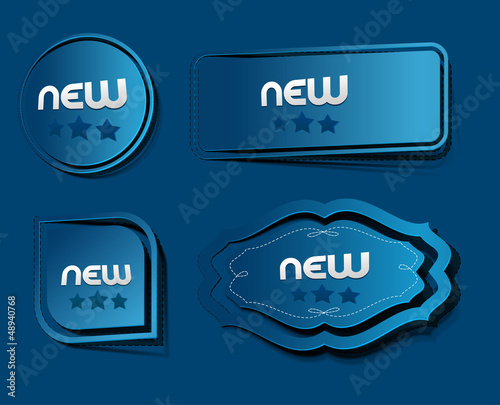 set of label design, vector