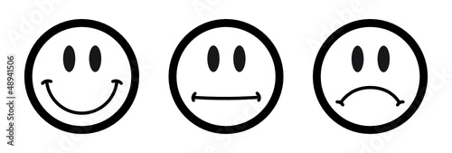 Smiley icon set fichier vectoriel libre de droits sur la banque d - Smiley simple noir et blanc ...