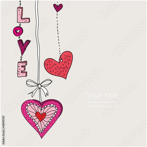 Valentinstag - Karte