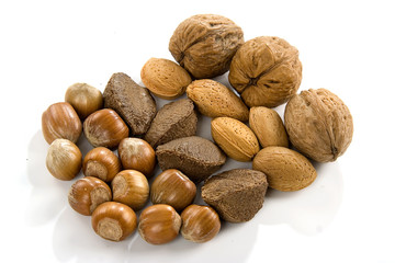 nuts, dried fruits and nuts