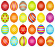 24 Easter Eggs Pattern