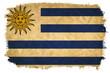 Uruguay grunge flag