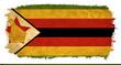 Zimbabwe grunge flag