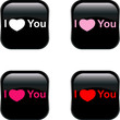 Vector love Buttons.