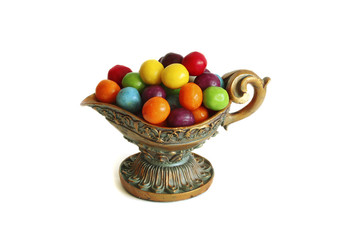 candy in a vase