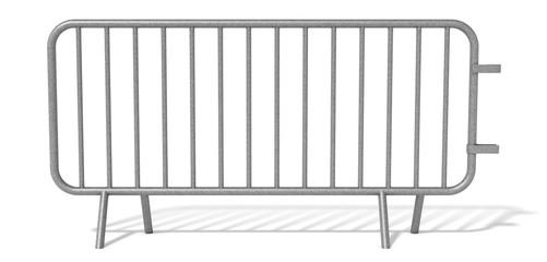 Barrière de sécurité sur fond blanc 2