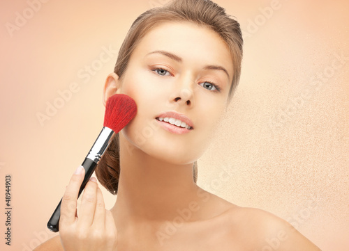 beautiful woman with brush
