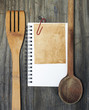 reminders recipe wooden kitchen table