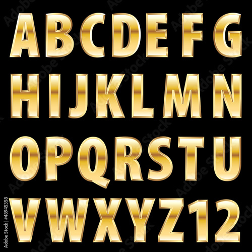 fat golden font